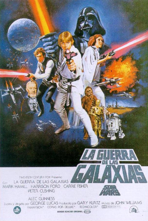 La guerra de las Galaxias, una nueva esperanza, poster de la pelicula